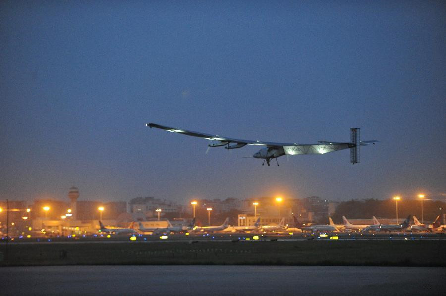 World's largest solar-powered plane heads for Nanjing