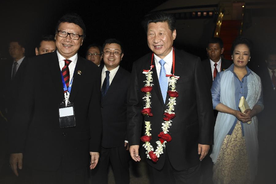 President Xi arrives in Indonesia for Asian-African summit