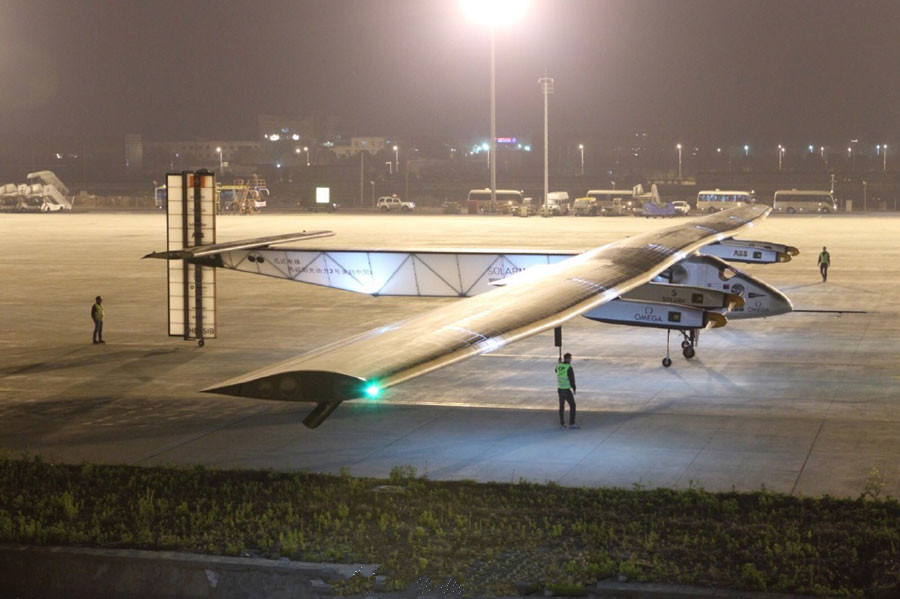 Solar-powered airplane arrives in Nanjing
