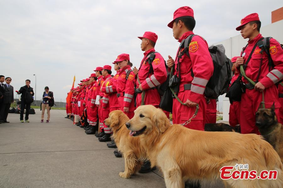Chinese search and rescue team arrives in Nepal
