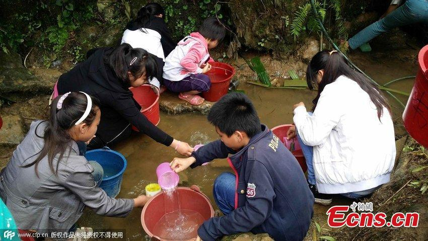 Schools short on water in drought-hit Guangxi