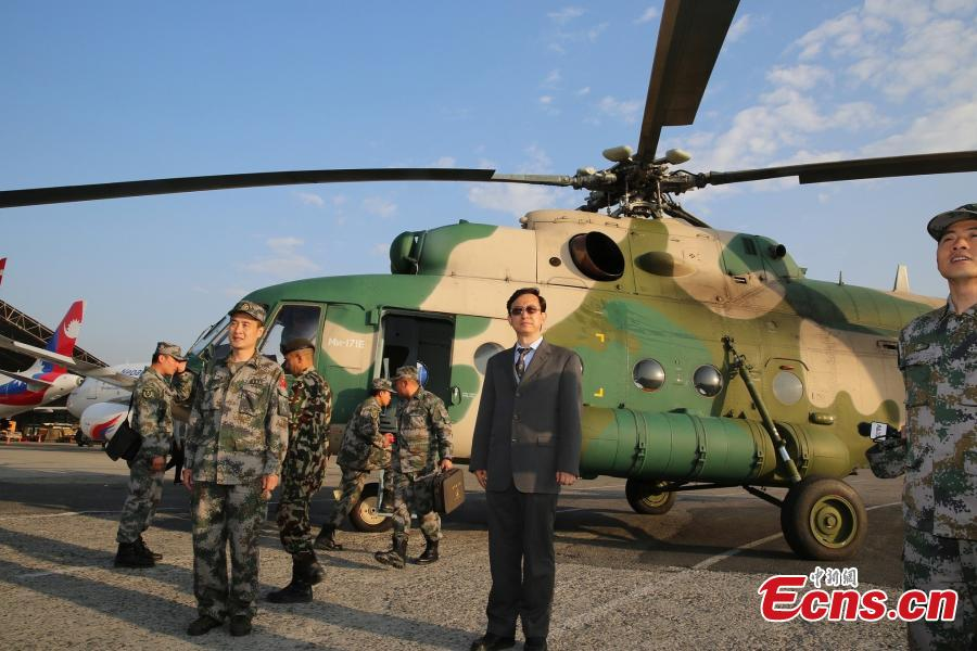 3 Chinese military helicopters assist Nepal rescue