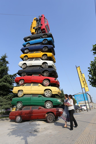 Car tower built in Central China city