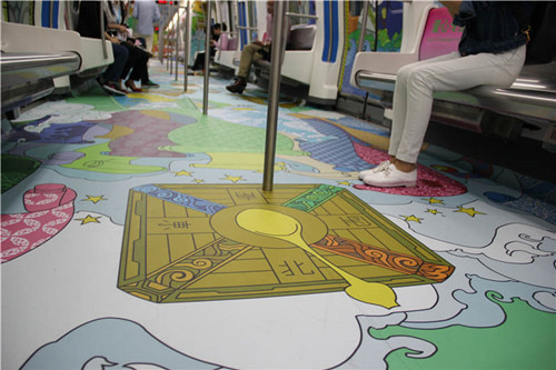 Subway train loaded with Maritime Silk Road culture