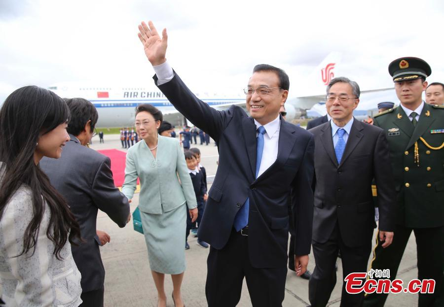 Chinese premier arrives in Colombia for official visit