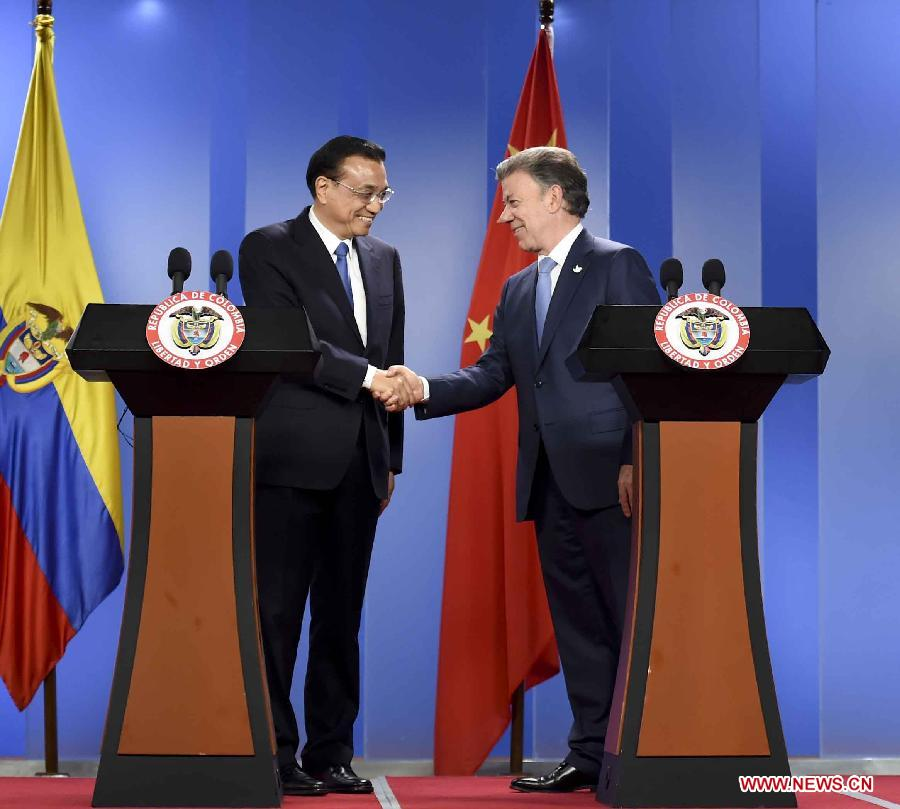 In pictures: Chinese premier's Colombia trip