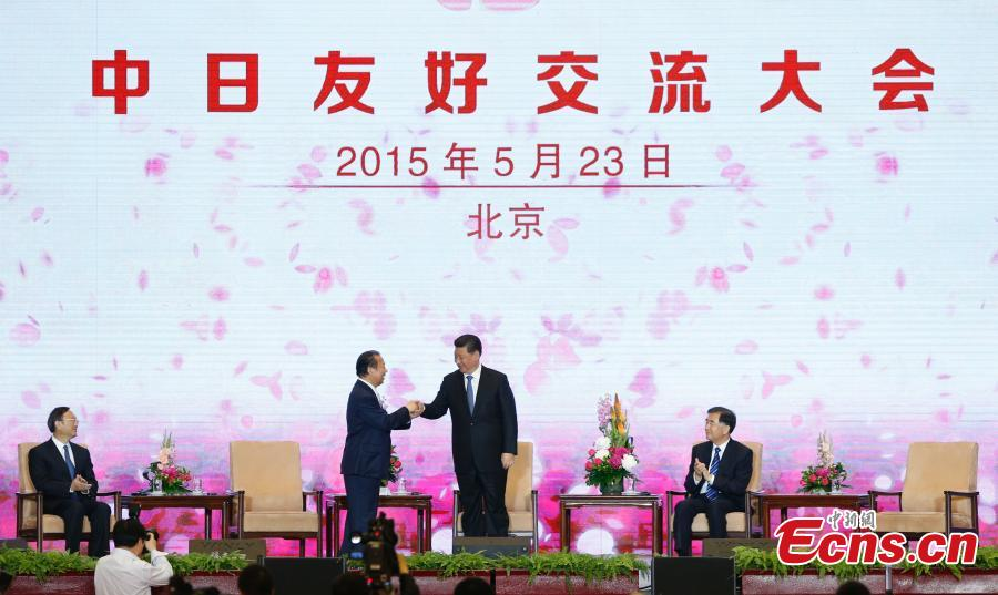Xi backs people-to-people exchanges to improve China-Japan ties