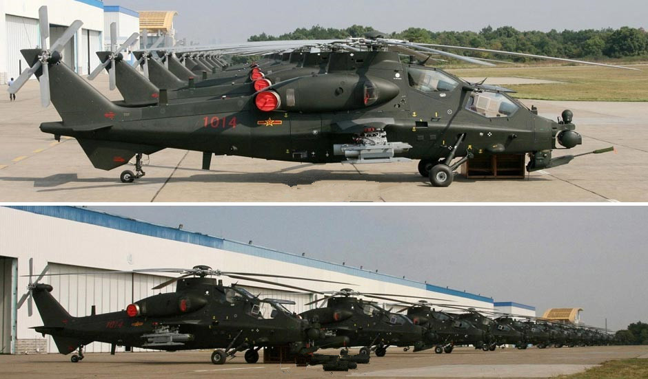 China's WZ-10 armed helicopters