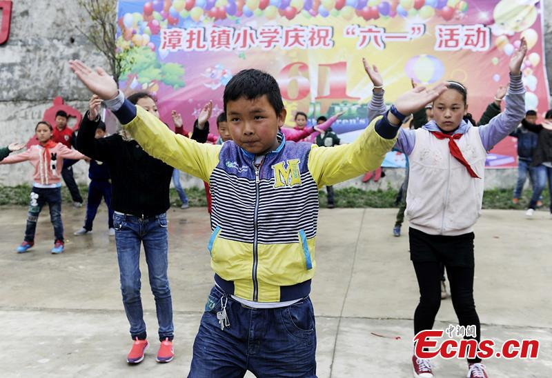 Tibetan children celebrate International Children's Day
