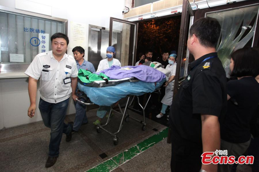 Woman injured in Taiwan party blast receives treatment in Shanghai