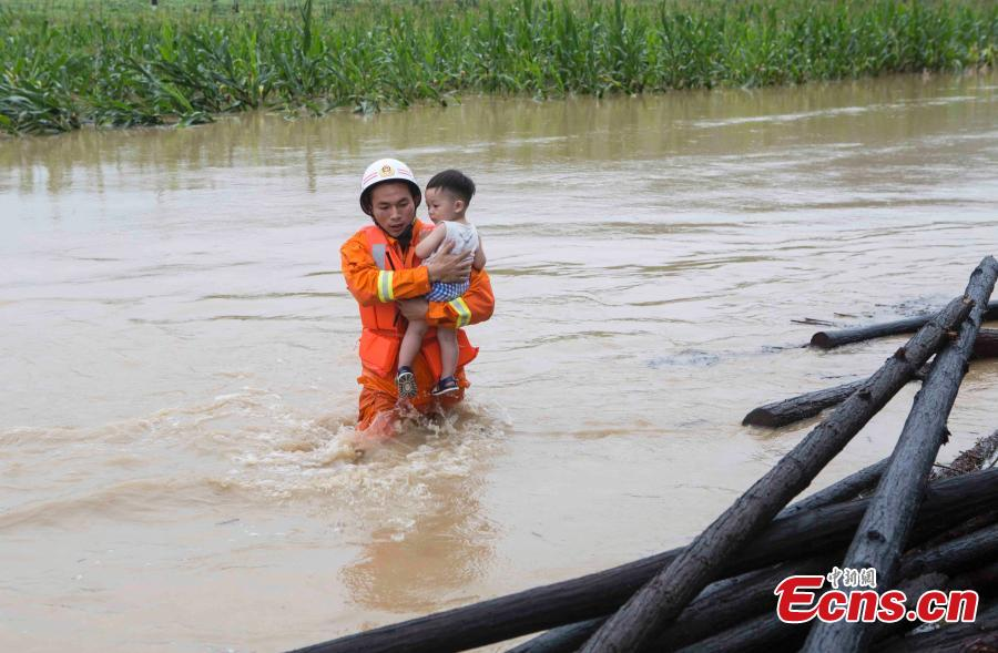 Heavy rain and flooding hit East China