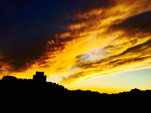 Spectacular clouds over Great Wall
