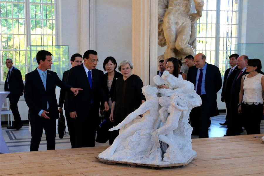 Premier Li visits Rodin Museum in Paris