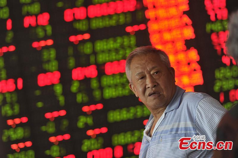 China stocks drop 5.23 pct