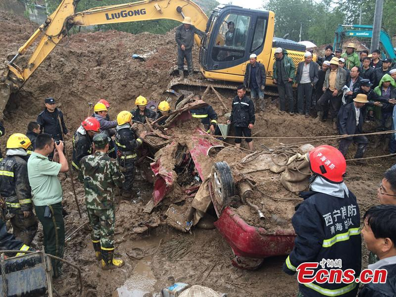 2 killed in landslide in NW China's Qinghai
