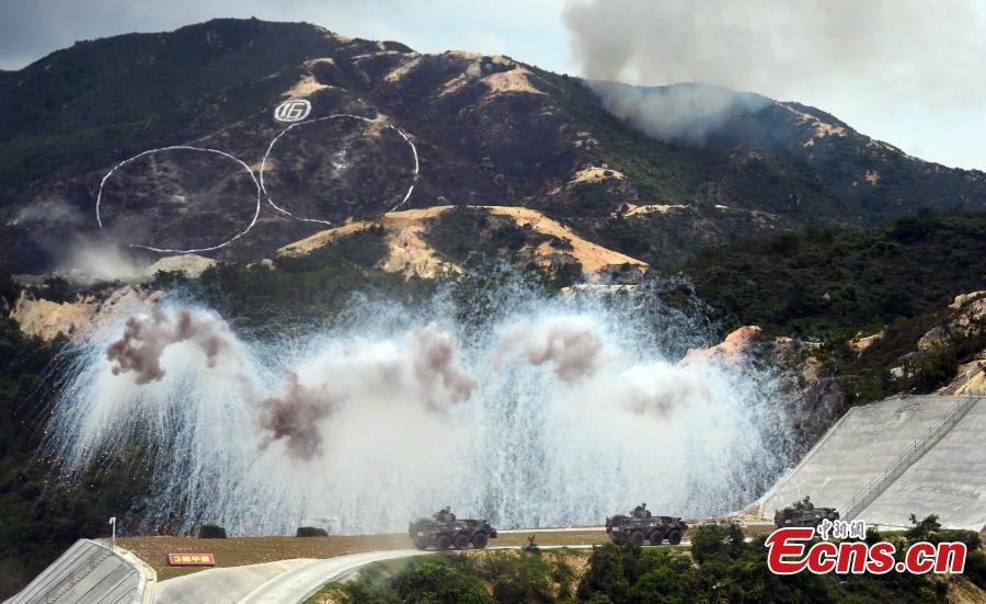 PLA holds military drill in HK