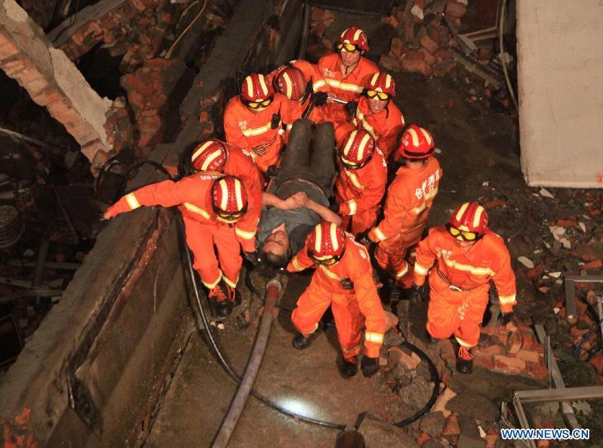 6 dead in east China factory collapse