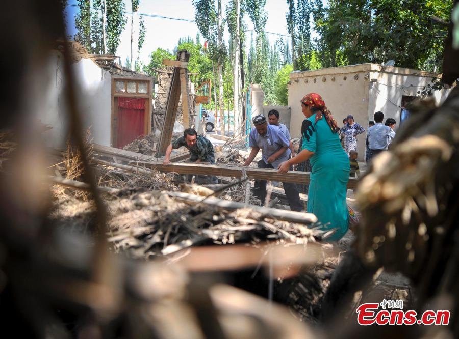 Residents try to return to normal after quake in Xinjiang