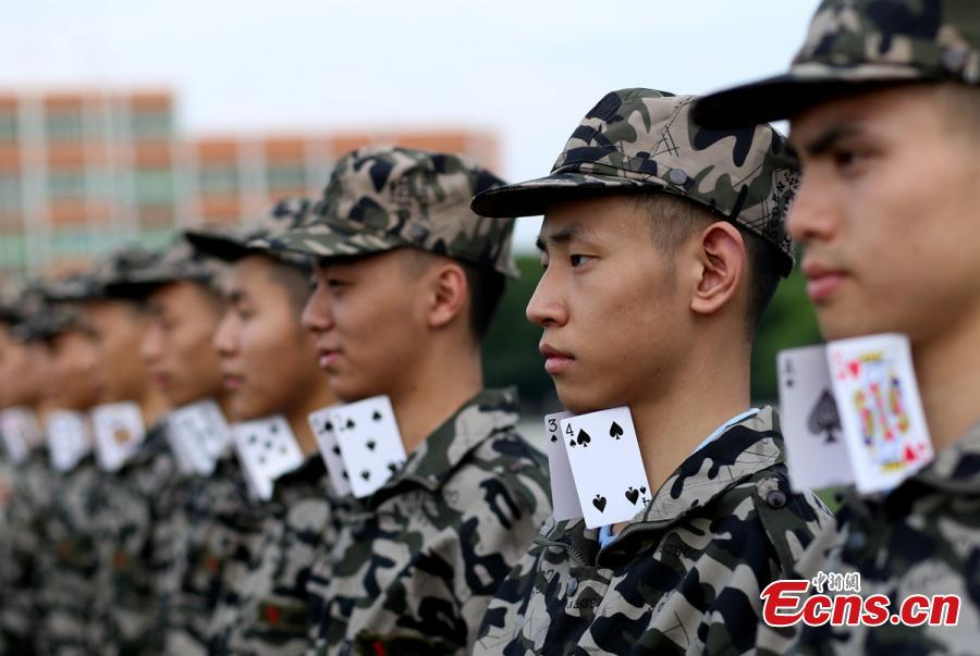 New students take rigorous military training in SW China