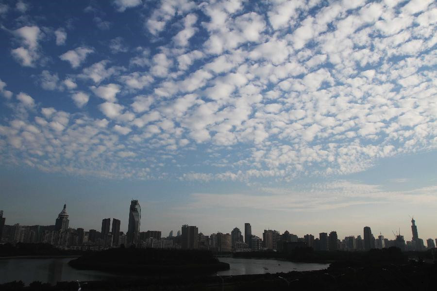 Splendid scenery of clouds over Xiamen