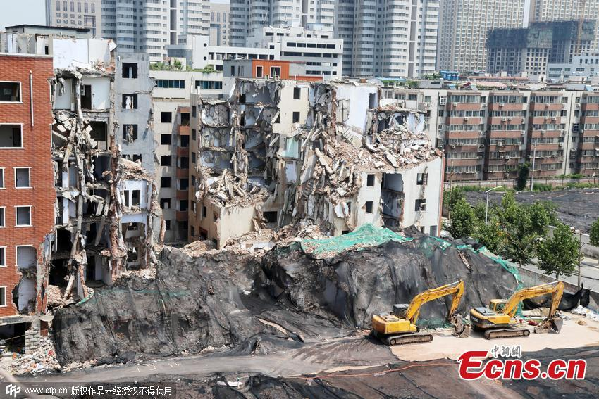 City turned into 'quake-hit zone' due to massive demolition