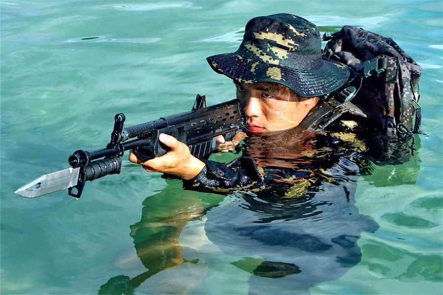 PLA Navy soldiers take devil training