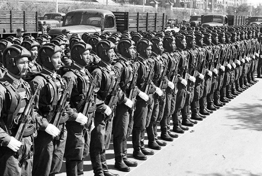 Chinese soldiers in parades