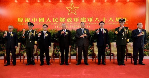 Macao holds reception to mark 88th anniv. of PLA's founding