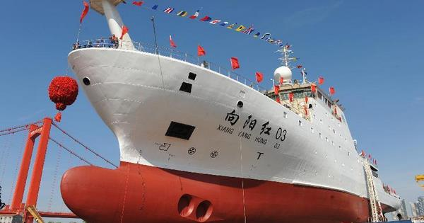 Newly built science ship seen in C China's Wuhan