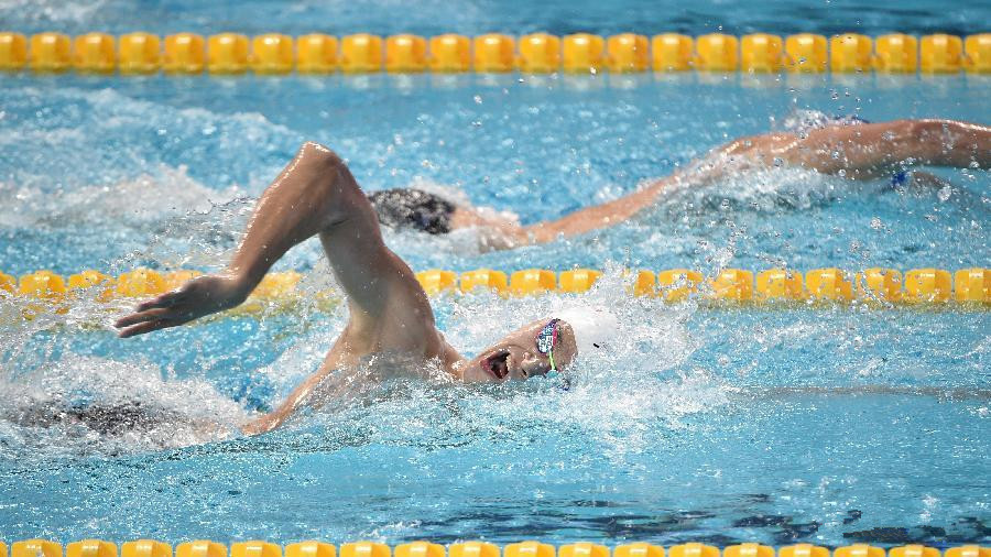 Sun Yang wins third straight 400m freestyle world championships title