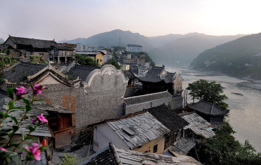 Shuhe Ancient Town in Shaanxi Province