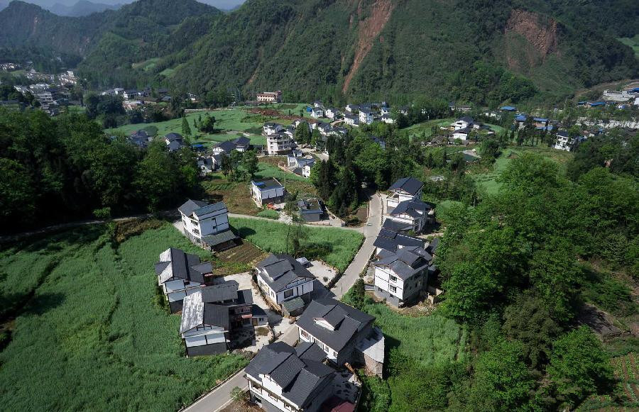 Reconstruction finished for quake-hit Lushan County, SW China
