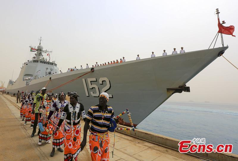 Chinese navy 152 destroyer formation visits Sudan