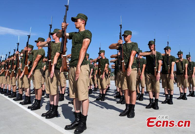Foreign armies keep training in Beijing for China's military parade