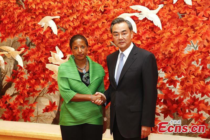 Chinese foreign minister Wang Yi meets Susan Rice