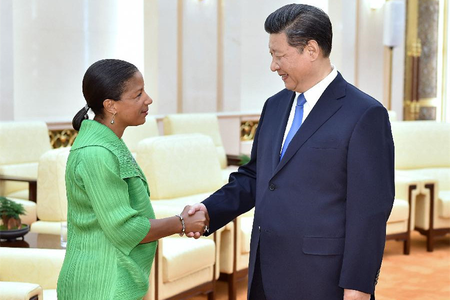 President Xi meets U.S. National Security Advisor Susan Rice