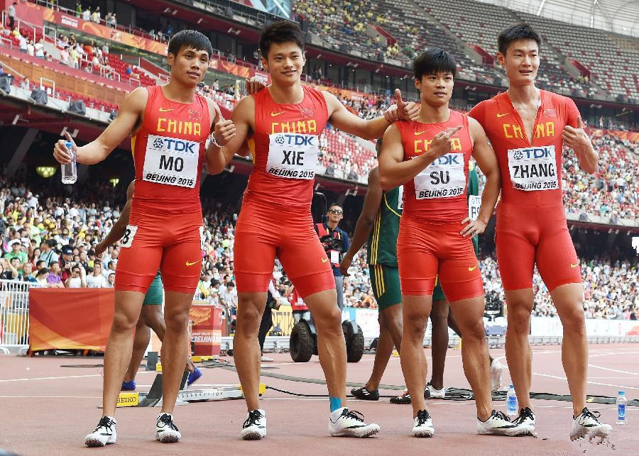 China breaks Asian record to reach men's 4x100m final