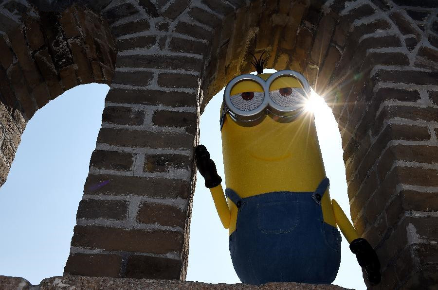 Minions visit Great Wall in Beijing