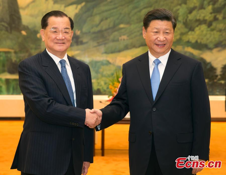 Xi meets with former KMT chairman Lien Chan