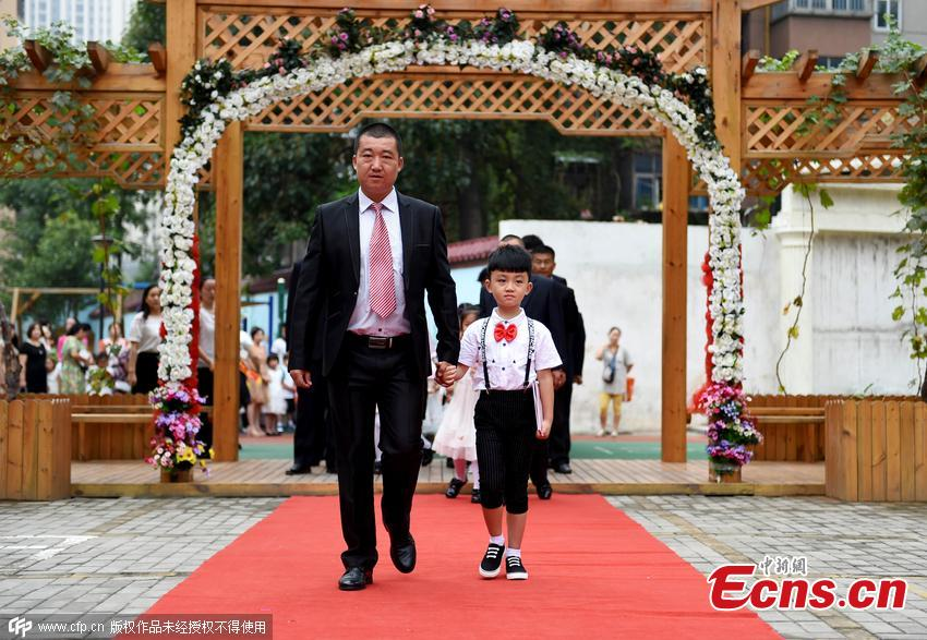 Red carpet ceremony for first grade kids