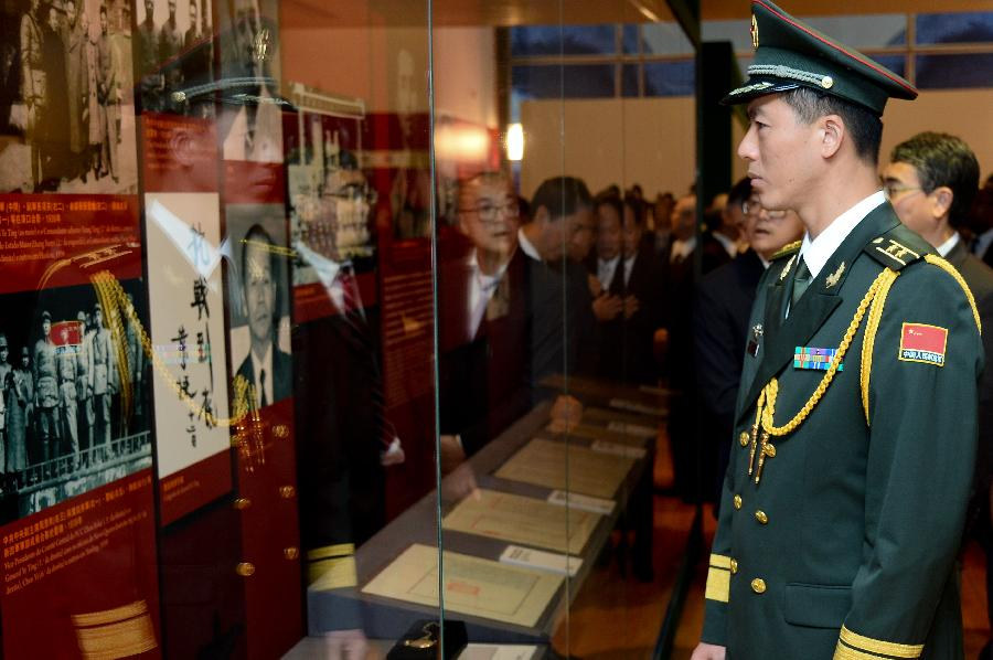 Exhibition marking 70th anniv. of V-Day opened in Macao