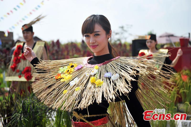 'Straw beauties' celebrate Rice Culture Festival