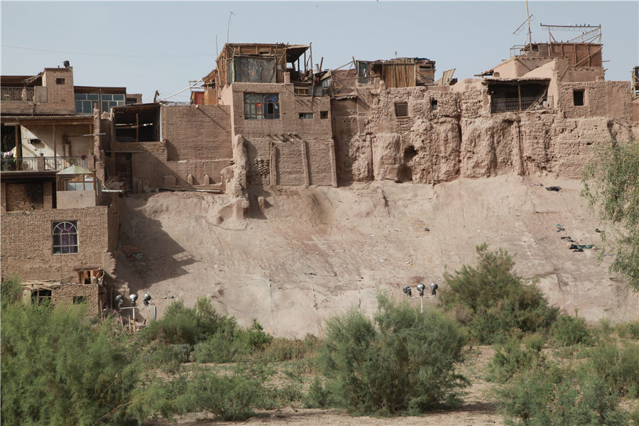 Kashgar old city in Xinjiang is well preserved