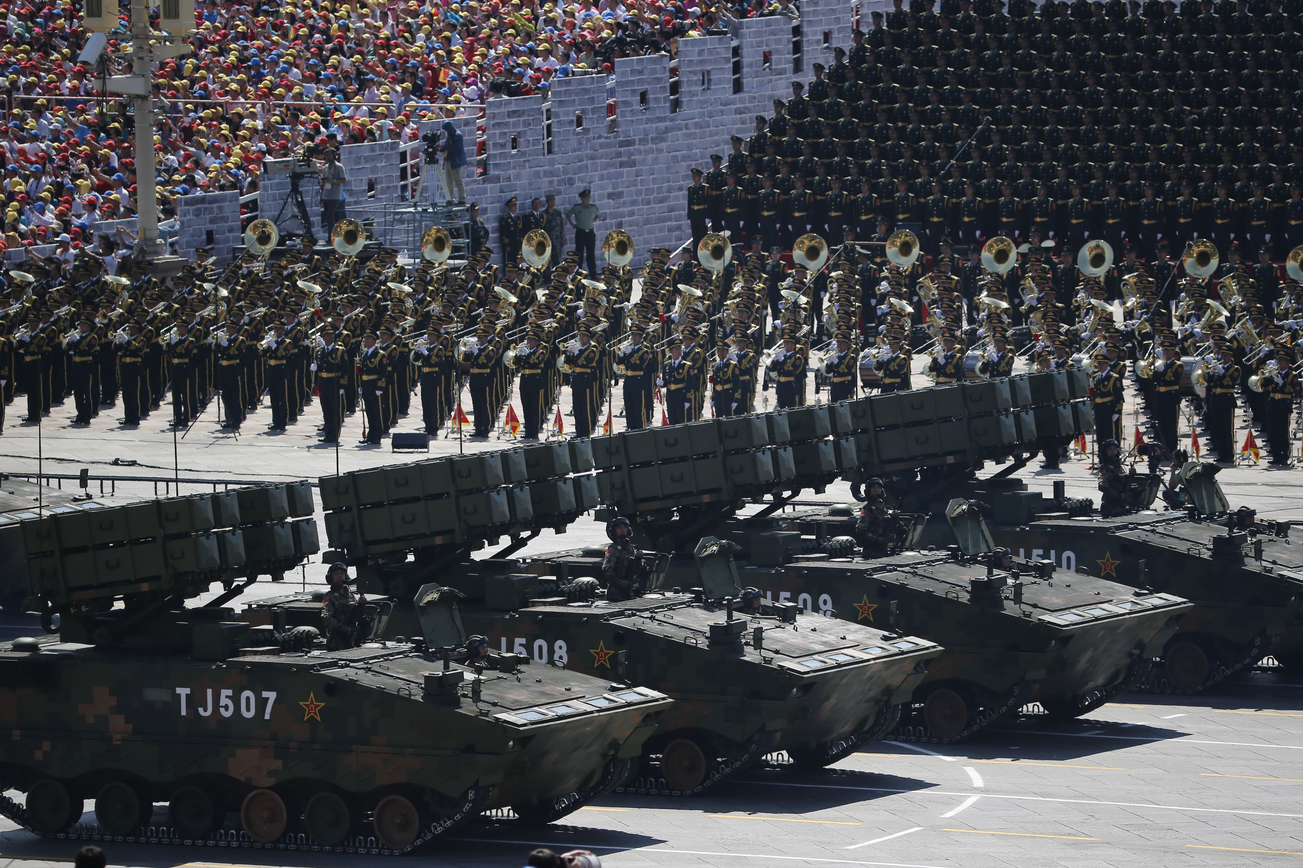 China displays missiles in massive military parade