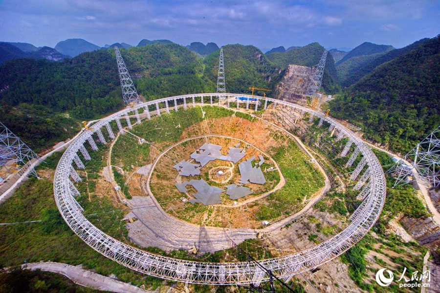 Wiring installation of world's largest radio telescope finished