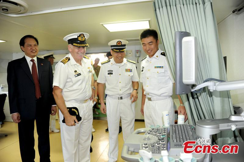Chinese navy medical ship first visit Australia