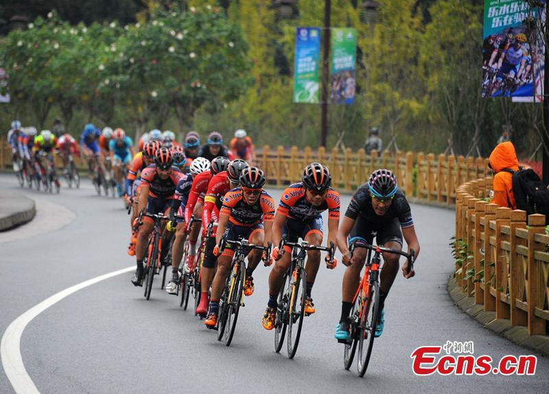 2015 Tour China cycle race started in Sichuan