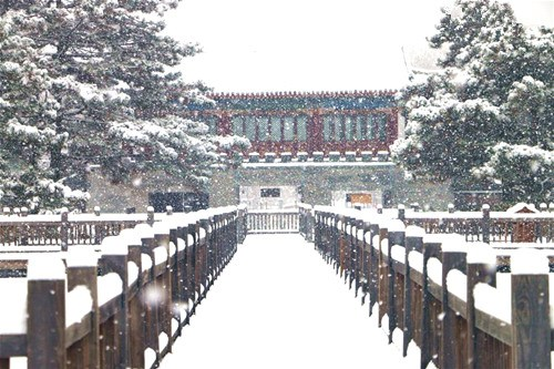 Snowfall witnessed in N China