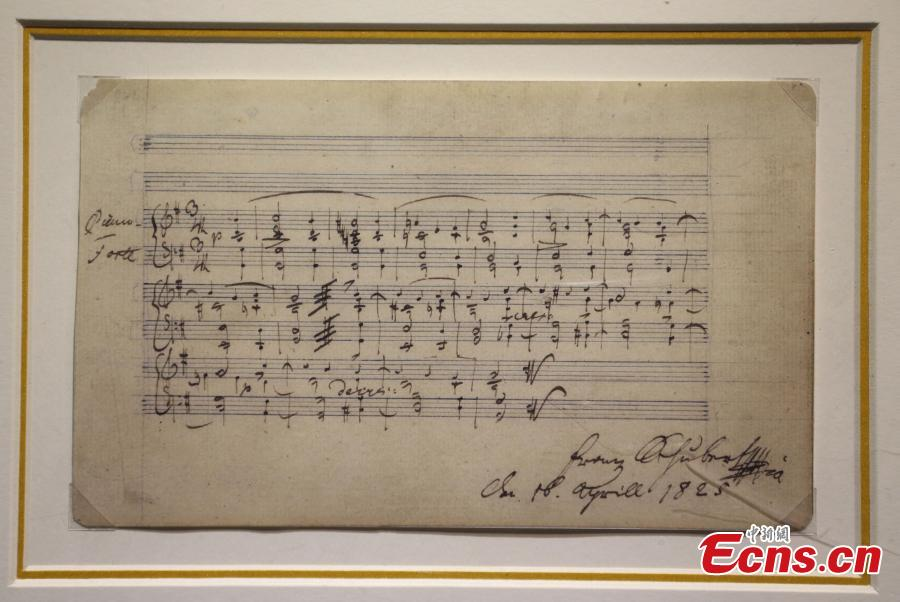 Handwritten manuscripts of musician masters shown in Nanjing