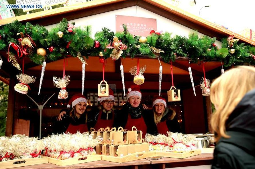 Christmas market set in German Embassy in Beijing